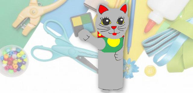 החומרים: גליל נייר טואלט ריק מדפסת נייר הדפסה מספריים דבק   אופן ההכנה:  להדפיס את תבנית החתול. לגזור את החלקים מנייר ההדפסה. להדביק את המלבן הגדול על […]