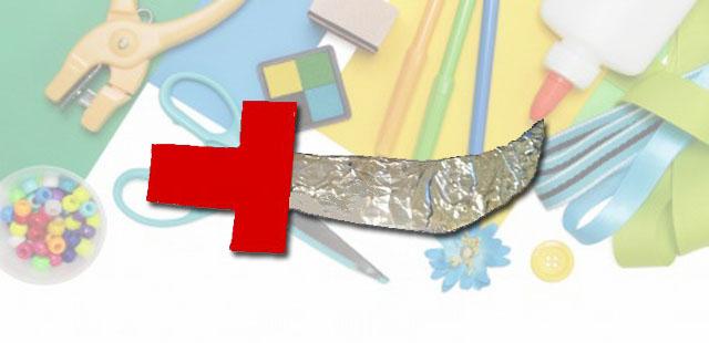 החומרים: בריסטול עבה נייר אלומיניום מספריים עיפרון דבק נצנצים כסופים וזהובים אפשרות: צבעים    אופן ההכנה:  לצייר את צורת החרב על בריסטול. לילדים הקטנים יותר אפשר […]