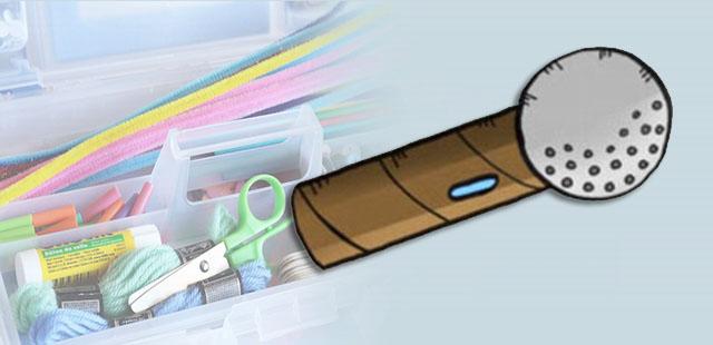 החומרים: גליל ריק של נייר טואלט נייר אלומיניום בריסטול צבעים קישוטים כיד הדמיון (נצנצים, מדבקות ועוד) דבק מספריים אפשרות: נייר מסולסל ו/או סרטים   אופן ההכנה: לקשט את […]