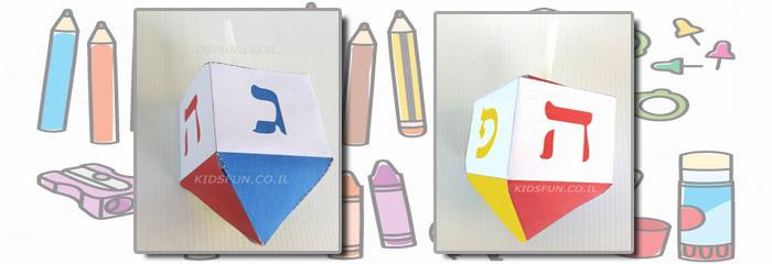 החומרים: מדפסת נייר הדפסה (עדיף נייר עבה) מספריים דבק צבעים (אם אין ברשותכם מדפסת צבע) קשית אפשרות: מטבעות שוקולד   אופן ההכנה: להדפיס את תבנית הסביבון או כקובץ PDFאם […]